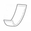 40 couches rectangulaires intraversables 11 x 38 cm| SenUp.com