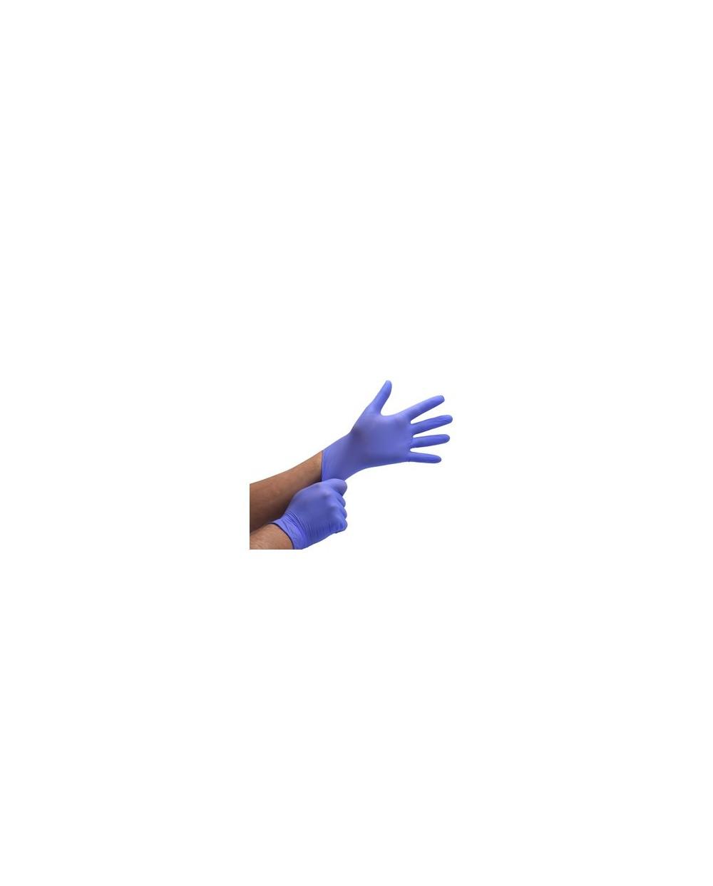 Gants Nitrile - La boîte de 100 gants bleu