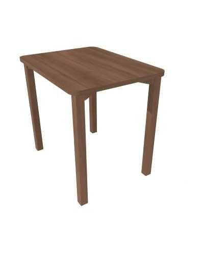 Table, avec coins arrondis, 60 x 80 x 75,5 cm (hauteur), Noyer.