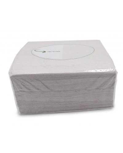 Papier d'essuyage feuille à feuille. Par carton de 20 paquets de 50