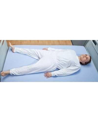 Genouillère manches longues avec zip à l'entrejambe, blanc, Large.