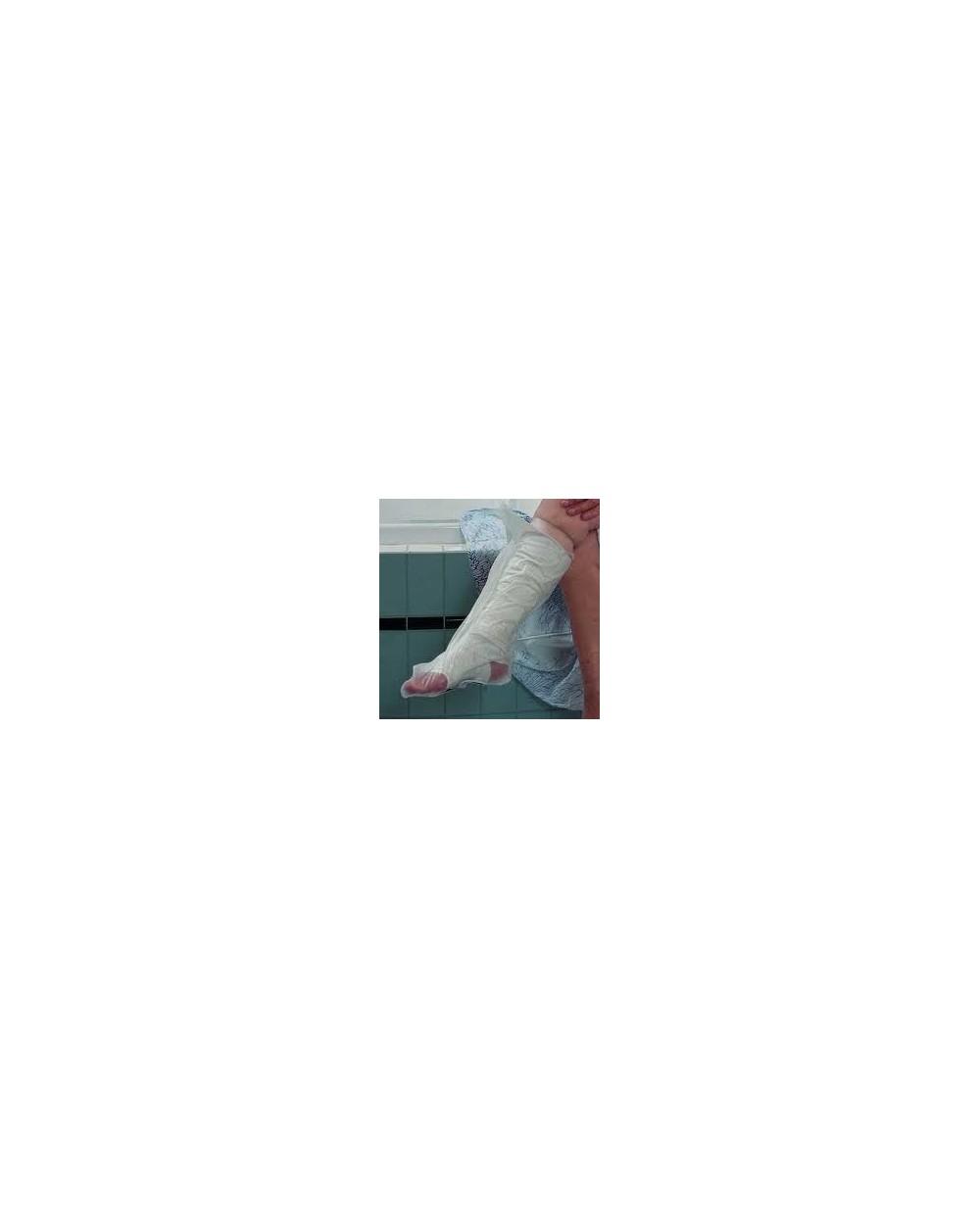 Housse étanche pour plâtre du mollet, taille L.