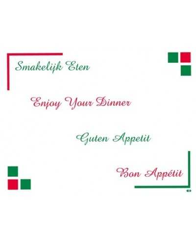 Sets de table, Bon Appétit.Carton de 4 x 500