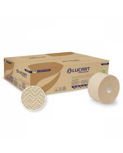 Papier hygiénique Eco Natural AUTOCUT, 900 coupons, 2 plis, naturel.Ballot de 12 bobines