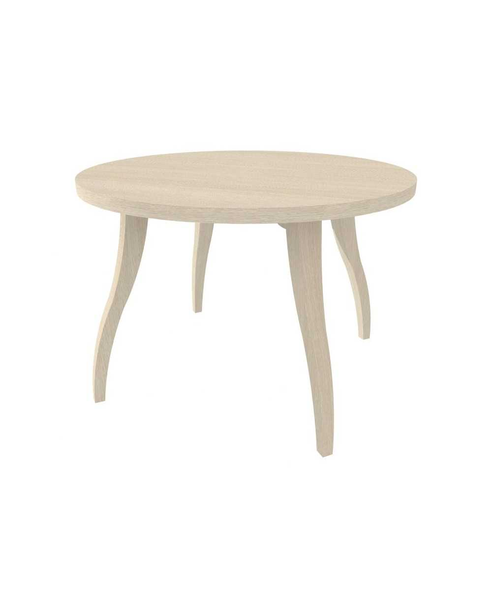 Table de salon Flex ronde, Æ 80 cm x 55 cm, chêne grisé