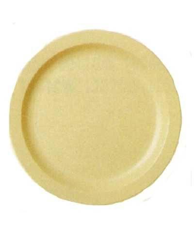 Assiette en polycarbonate, bleu ardoise