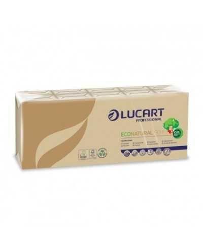 Mouchoirs en papier Eco Natural , 4 plis, recyclé.Par carton de 240 paquets de 10