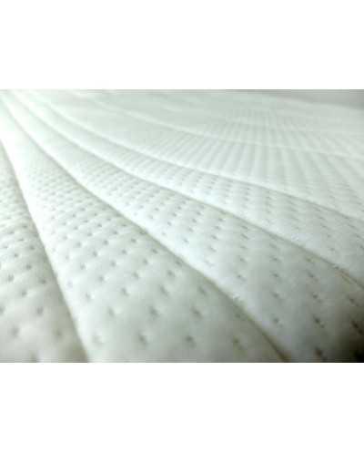 Alèse plateau en polyuréthane/polyester matelassé (côté dormeur).
