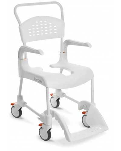 Chaise roulante de douche Etac Clean, hauteur 49 cm, blanc