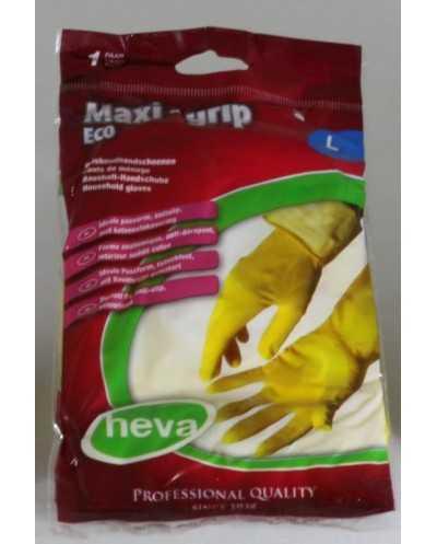 Paire de gants de ménage, large, jaune.