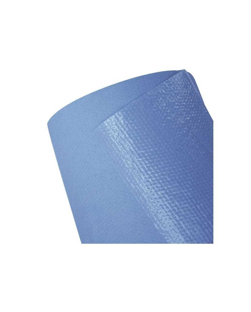 Drap d'examen plastifié bleu - largeur 50 cmPar carton de 6 rouleaux.