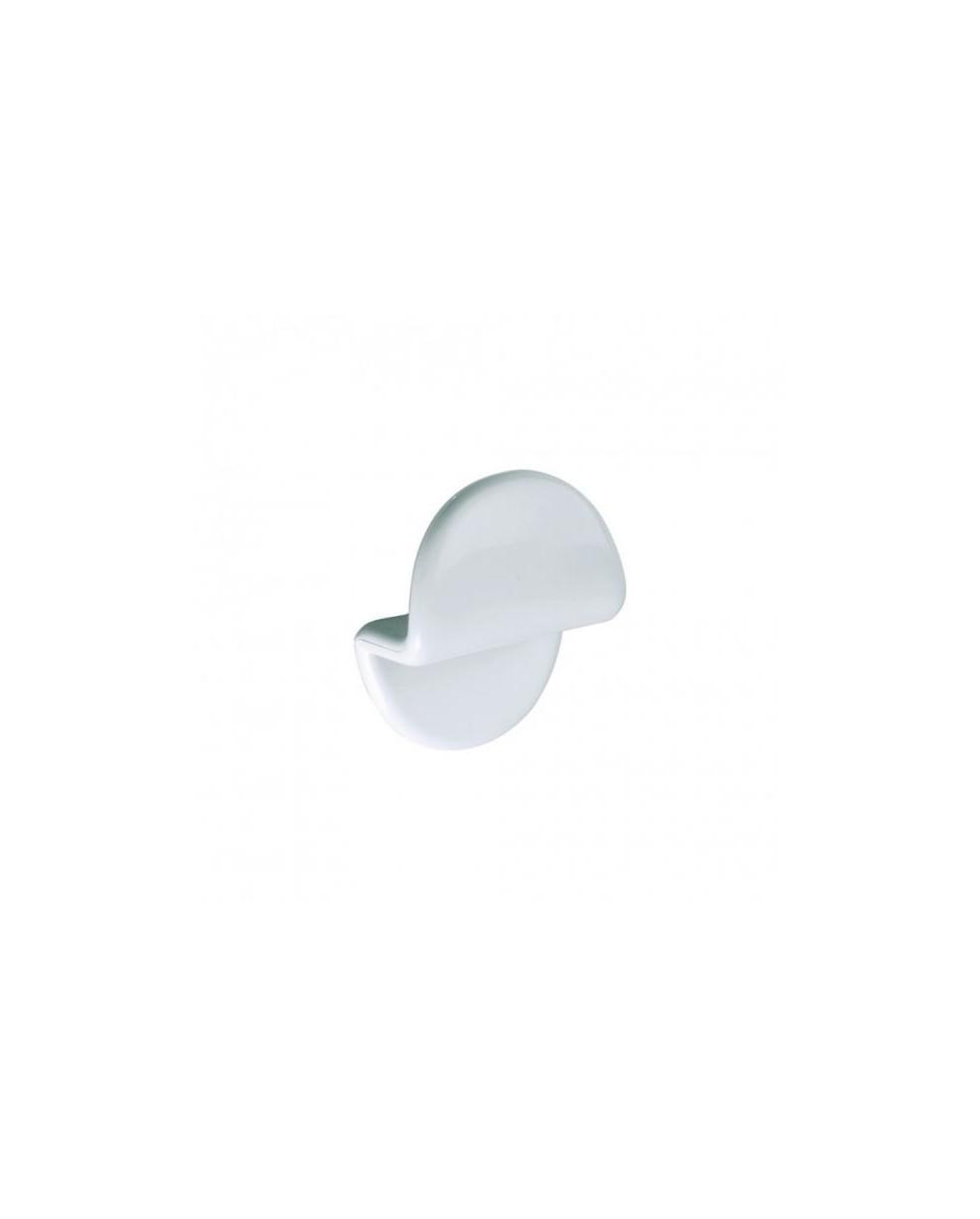 Porte-peignoir, 1 tête, ABS blanc