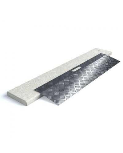 Rampe de seuil en aluminium type 1 - longueur 78 cm - hauteur de 0 à3 cm.