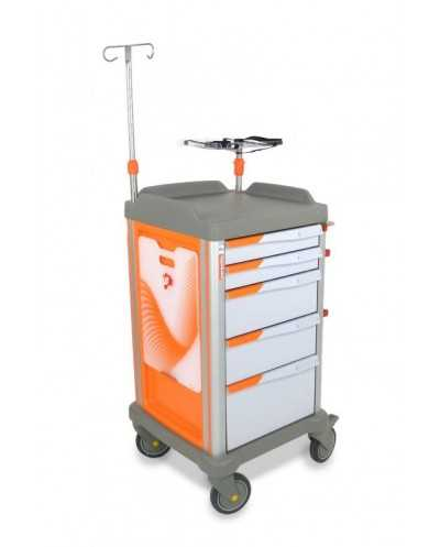 Chariot d'urgence PERSOLIFE Compact, Complet