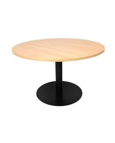 Table, ronde Æ 120 cm x 75,5 cm (hauteur), avec pied central, hêtre.