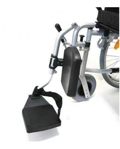 Repose-jambes amovible universel pour fauteuils roulants, droite.