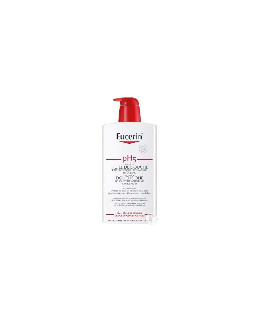 Flacon-pompe de 1000 ml de gel lavant Eucerin pH5