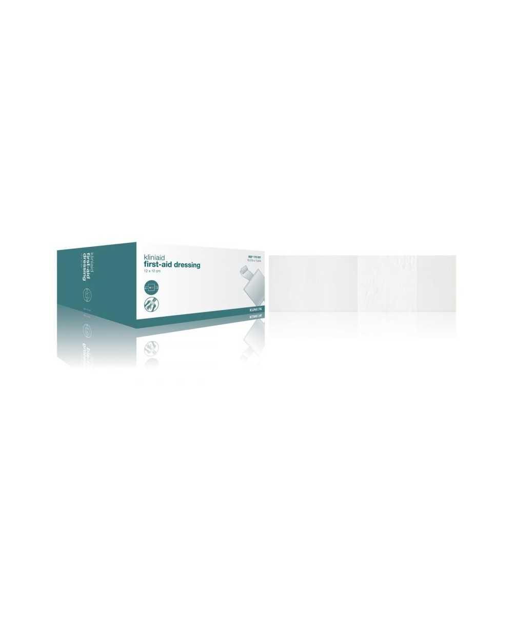 Pansement d'urgence KLINION, 12 x 12 cm - stérileBoîte de 10