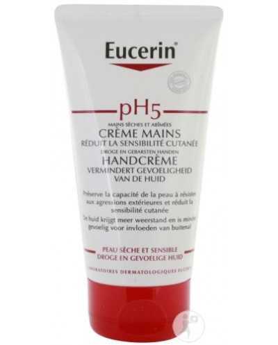 Tube de 75 ml de Crème pour les mains Eucerin pH5.