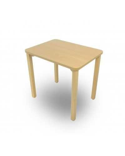 Table, avec coins arrondis, 60 x 80 x 75,5 cm (hauteur).
