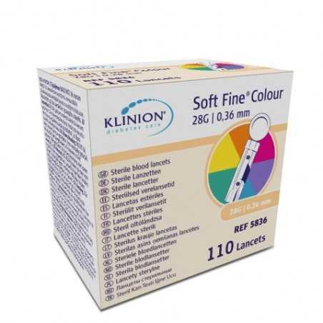 Lancettes SOFT Fine Color Klinion Boîte de 110