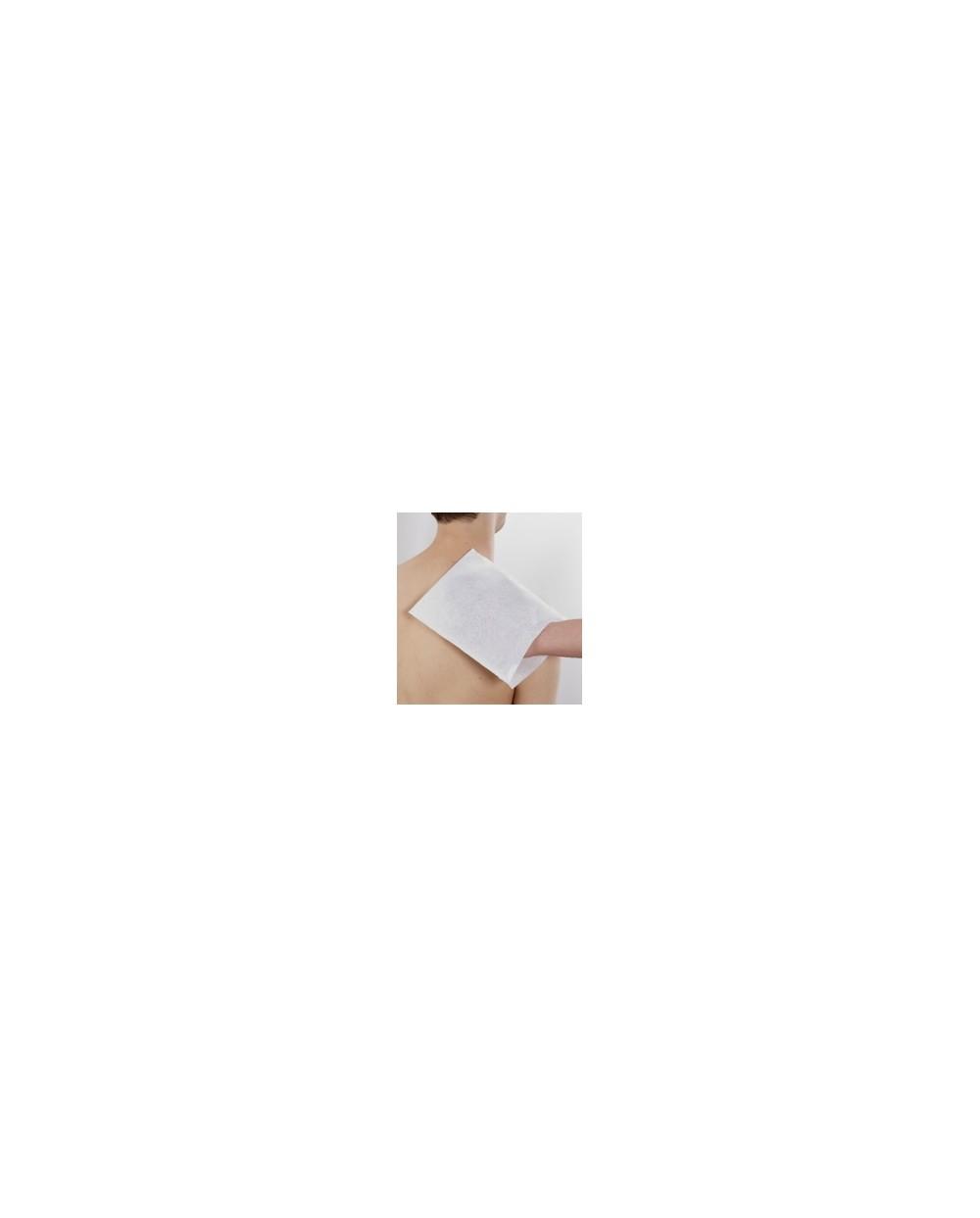 Gants de toilette, non-tissé, 80 g/m²,blancPar carton de 20 paquets de 50