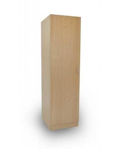 Colonne penderie, panneaux hêtre clair, 50 x 60 x 180 cm, 1 porte, 1 tablette fixe + tringle