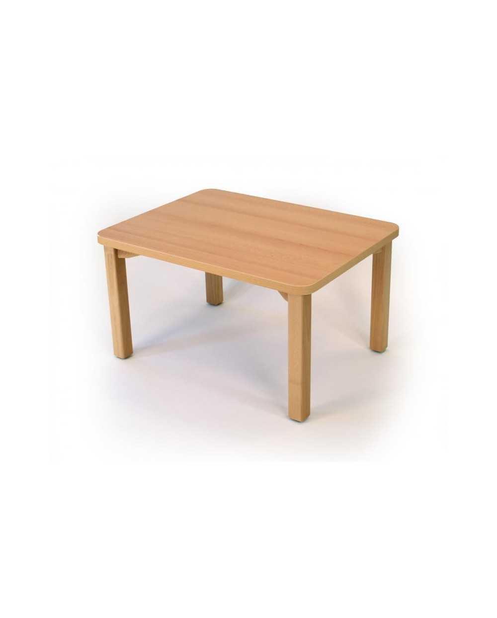 Table de salon, 60 x 80 x 45 cm, hêtre.