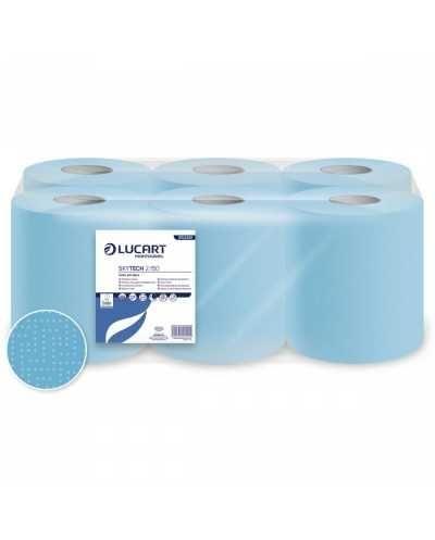Maxi bobines d'essuyage, 2 plis, bleu.Ballot de 6