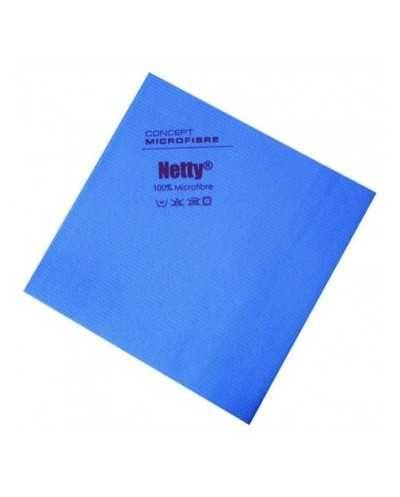 Chiffon microfibre antibactérien Netty, bleu.Paquet de 5