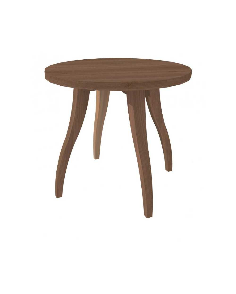 Table de salon Flex ronde, Æ 60 cm x 55 cm, noyer