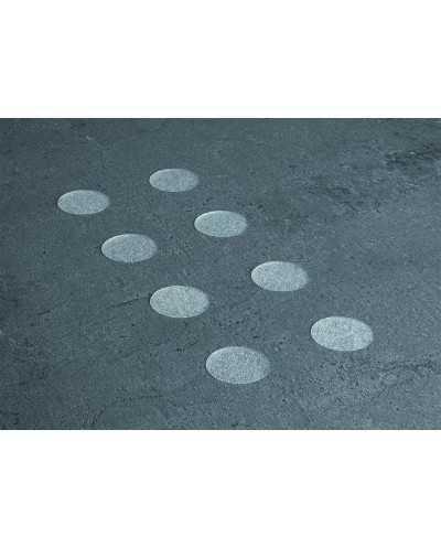 Set de 32 stickers antidérapant ronds Æ3,5 cm, blanc.