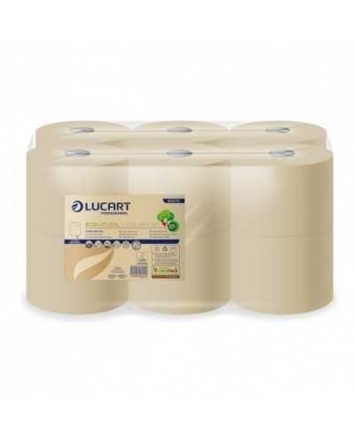 Papier hygiénique Eco Natural,feuilles à feuilles, 180 m, 2 plis, naturel. Ballot de 12 bobines