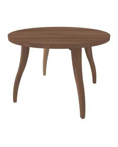 Table de salon Flex ronde Æ 80 cm x 55 cm, noyer