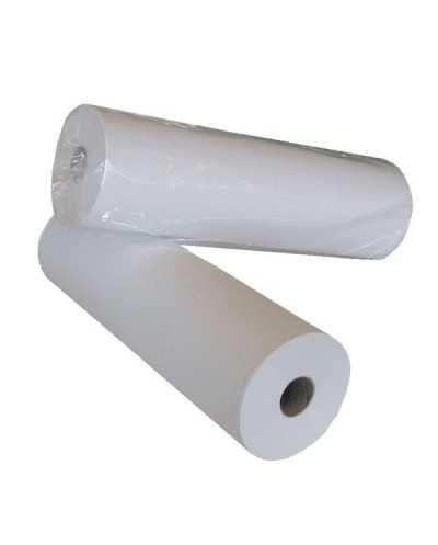 Drap d'examen largeur 50 cm, lisse, blanc- 2 plisPar carton de 6 rouleaux.