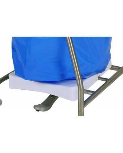 Base plastique blanche pour support sacs poubelle ISEO réf. 579...