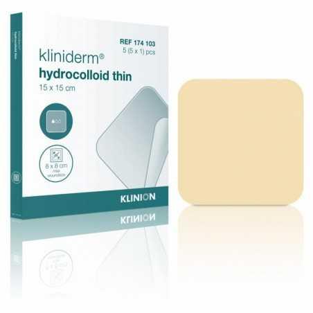 Pansements Kliniderm Hydrocolloïde fins, 10 x 10 cm, stérile.Boîte de 5