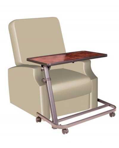 Table à manger pour fauteuil releveur, coloris: ronce de noyer