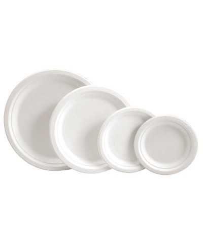 """Assiettes rondes 15,3 cm """"Simple"""", canne à sucre Boîte de 50"""
