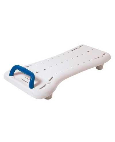 Planche de bain Benny XL,69 x 35 cm, blanc et bleu.