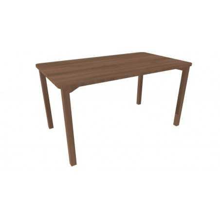 Table, avec coins arrondis, 80 x 140 x 75,5 cm (hauteur) - Noyer.