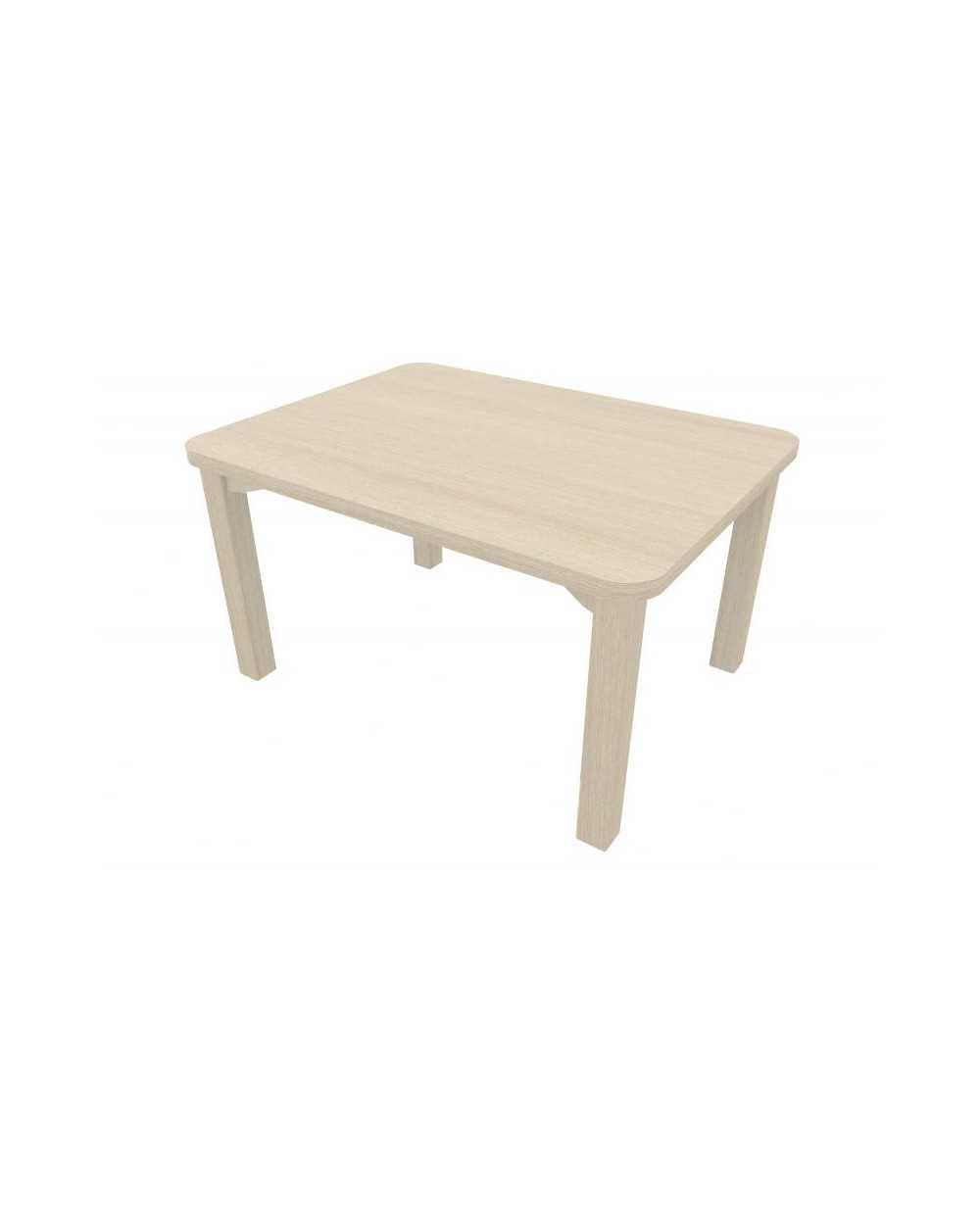 Table de salon, 60 x 80 x 45 cm, chêne grisé.