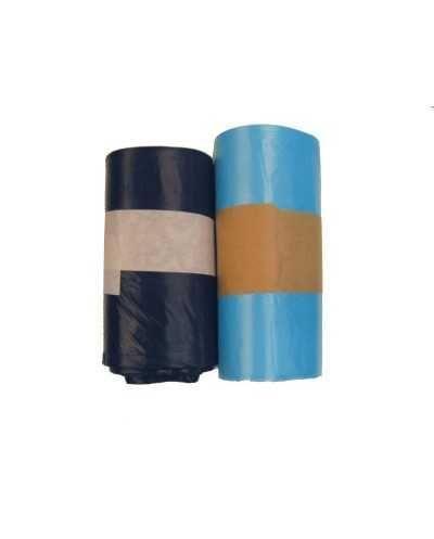 Sacs poubelle, 50 x 60 cm, +/- 30 litres, noir.Carton de 20 rouleaux de 20
