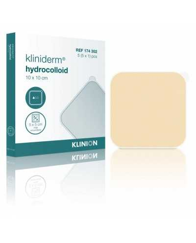 Pansements Kliniderm Hydrocolloïdes standards, 10 x 10 cm, stérile.Boîte de 5