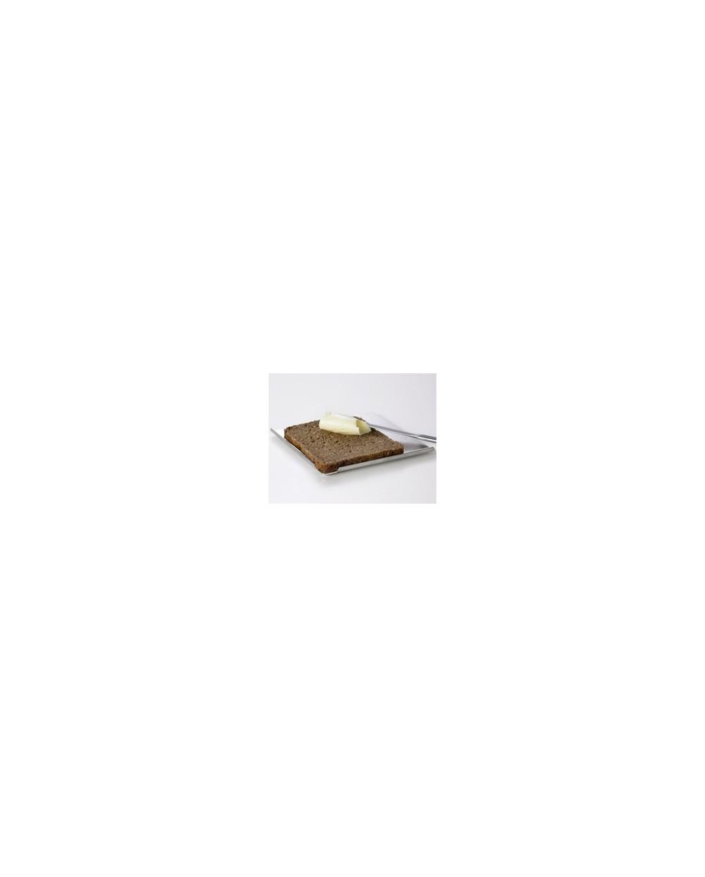 Planche à tartiuer alu avec bords arrondis, 16 x 16 cm