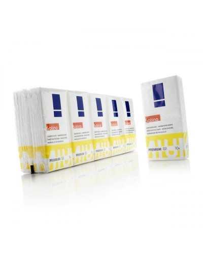 Mouchoirs en papier, 4 plis, blanc.Par carton de 240 paquets de 10