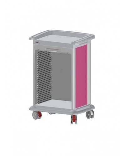 Chariot de distribution de médicaments PRECISO 10 modules, à aménager, hauteur 118 cm, coloris: alu.