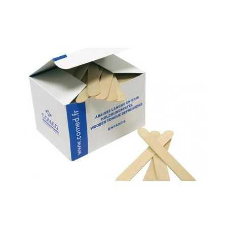Abaisse-langue en bois pour enfant. Boîte de 250