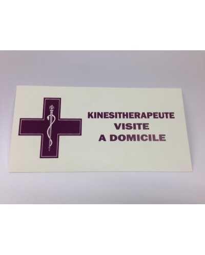 """Plaque """"Visite Kiné"""", mauve - FR."""