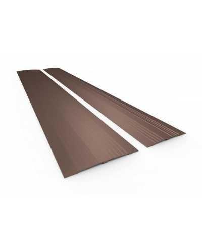 Passe-seuil en aluminium, 11 x 95 cm, aluminium anodisé bronze.